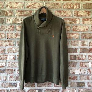 Polo Ralph Lauren Shawl Collar Sweatshirt Sz L